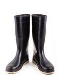 Stivali di gomma nera Immagine Stock