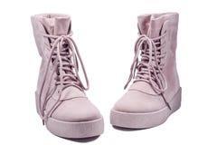 Stivali di inverno della pelle scamosciata del ` s della donna Immagine Stock Libera da Diritti