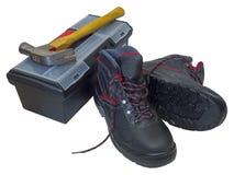 Stivali di lavoro Immagini Stock