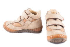 Stivali di lavoro sporchi Fotografia Stock Libera da Diritti