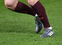 Stivali di Lionel Messi Immagine Stock Libera da Diritti
