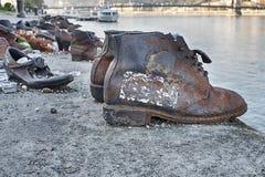 Stivali e memoriale di olocausto delle scarpe Fotografia Stock Libera da Diritti