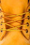 Stivali gialli Fotografia Stock