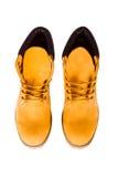 Stivali gialli Fotografia Stock Libera da Diritti