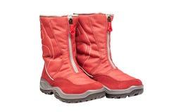 stivali impermeabili rossi del ` s dei bambini immagine stock libera da diritti