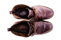 Stivali marroni antiquati immagine stock libera da diritti