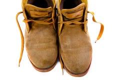 Stivali marroni antiquati fotografia stock libera da diritti