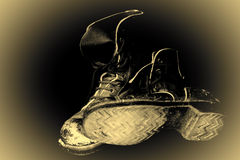 Stivali militari Fotografie Stock