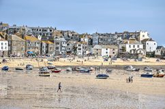 StIves at low tide royalty-vrije stock afbeelding