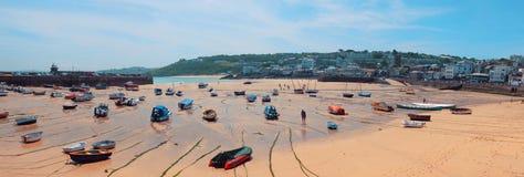 StIves plaży linia, Cornwall Zdjęcie Royalty Free