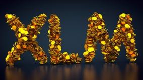 Stjärn- Lumenssymbol för Crypto valuta stock illustrationer