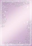 Stjärn- moderna purpurfärgade baner - och blommatema Royaltyfria Bilder