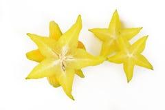 Stjärnaäpple på vit Royaltyfria Bilder