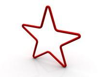 stjärna 3d Arkivfoto
