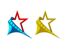 Stjärna bildband, halvmånformig, illustration Royaltyfri Foto