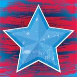Stjärna-blått Royaltyfri Bild