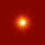 Stjärna brusten röd och gul brand. EPS 8 Royaltyfria Bilder