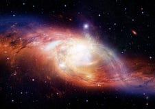Stjärna-, damm- och gasnebulosa i en avlägsen galax Royaltyfri Bild