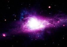 Stjärna-, damm- och gasnebulosa i en avlägsen galax Royaltyfri Fotografi