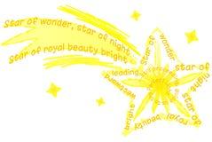 stjärna för bethlehem juleps Royaltyfri Fotografi
