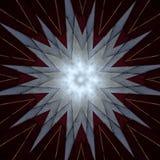 Stjärna för Digital konstdesign på burgundian rött royaltyfri illustrationer