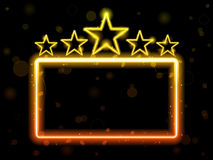 stjärna för filmneontecken Arkivbild