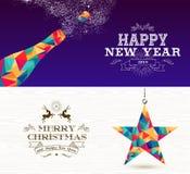 Stjärna för flaska för glad jul för lyckligt nytt år 2019 royaltyfri illustrationer