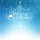 Stjärna för himmel för kort för glad jul Royaltyfri Bild