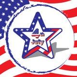 Stjärna för 4 Juli den amerikanska självständighetsdagen, på fl Arkivbilder