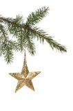 stjärna för natt för julfractalbild Fotografering för Bildbyråer