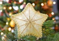 stjärna för natt för julfractalbild Arkivfoton