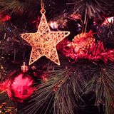 stjärna för natt för julfractalbild Arkivbild
