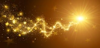 stjärna för natt för julfractalbild stock illustrationer