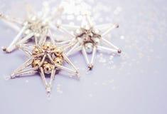 stjärna för natt för julfractalbild dottergyckel som har min bildpölsommar Arkivbilder