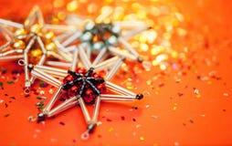 stjärna för natt för julfractalbild dottergyckel som har min bildpölsommar Royaltyfria Bilder