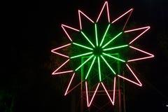 Stjärna för neonljus Arkivbilder