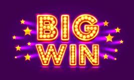 Stjärna för stor seger för kasinobaner toppen vektor illustrationer