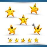stjärna för symbol för 5 tecken set Arkivfoton