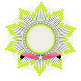 Stjärna formad gradbeteckning royaltyfri illustrationer