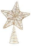Stjärna formad julprydnad på vit bakgrund Arkivfoton
