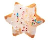 Stjärna-formad kaka Fotografering för Bildbyråer