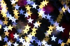 Stjärna formade jullampor Royaltyfria Bilder
