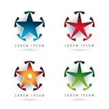 Stjärna formade logoer Arkivbilder