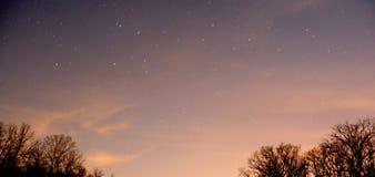 Stjärna fylld himmel Arkivbild