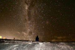 Stjärna fylld himmel Arkivfoto