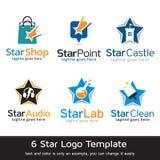 Stjärna Logo Template Design Vector Royaltyfri Illustrationer