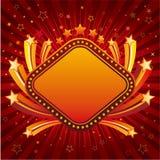 stjärna med kanten för neontecken Royaltyfri Bild