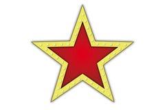 Stjärna med lampor royaltyfri illustrationer