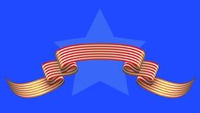 Stjärna och band royaltyfri illustrationer