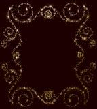 Stjärna- och paljettrambakgrund royaltyfri foto